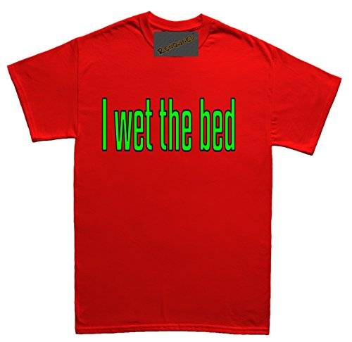 Renowned I wet the bed funny novelty april fool joke Herren T Shirt Rot
