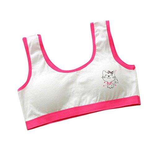Neue Baby Klamotten (Hunpta Neue Lovely Girls Printing Unterwäsche BH Weste Kinder Unterwäsche Sport Undies (Hot Pink))