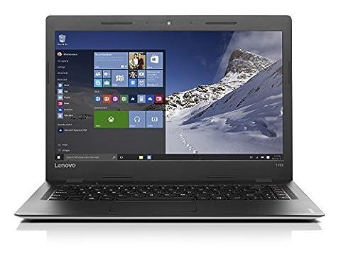 Lenovo IdeaPad 100s-14IBR Ordinateur portable 14'' Noir (Intel Celeron, 2 Go de RAM,SSD 32 Go, Intel HD Graphics, Windows 10)