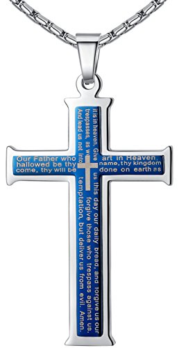 aoiy-mens-stainless-steel-bible-lords-prayer-in-english-scripture-cross-large-pendant-necklace-blue-