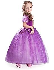 ELSA & ANNA® Princesa Disfraz Traje Parte Las Niñas Vestido (Girls Princess Fancy Dress) ES-NW11-RAP (5-6 Años, NW11-RAP)