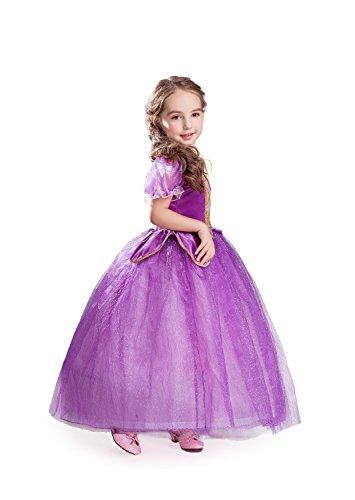 ELSA & ANNA® Mädchen Prinzessin Kleid Verrücktes Kleid Partei Kostüm Outfit DE-NW11-RAP (4-5 Jahre - Size Code 20, NW11-RAP)