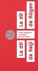 Le dit de Hôgen, le dit de Heiji : Cycle épique médiéval des Taïra et des Minamoto