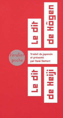 Le dit de Hôgen, le dit de Heiji : Cycle épique médiéval des Taïra et des Minamoto par René Sieffert
