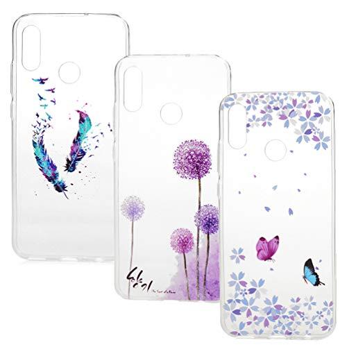 Vogu'SaNa Handyhülle Kompatible mit Huawei P Smart 2019/Honor 10 Lite Hülle Case Cover Silikon Transparent Tasche Durchsichtig Schutzhülle Handytasche Dünn Skin Soft Schale Bumper Handycover*3-Set1
