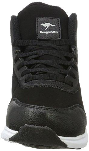 KangaROOS Navi, Baskets Hautes Mixte Adulte Noir (Jet Black)