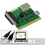 SODIAL(R) Placa Madre USB & PCI Analizador Medidor Tarjeta de Diagnostico para Ordenador Portatil & PC