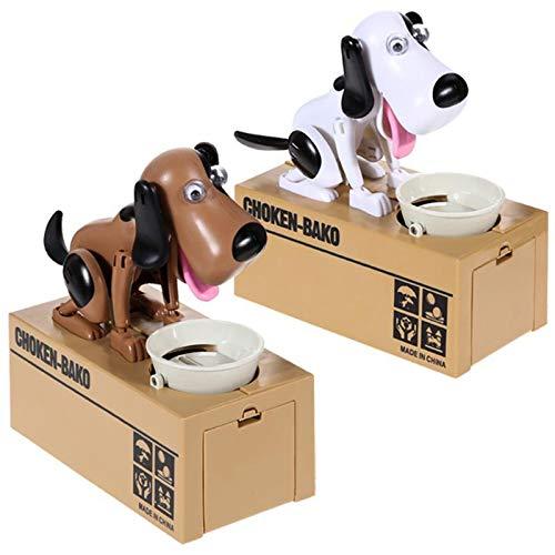 Bongles Mein Hund Piggy Bank Robotic Münze Munching Toy Spardose Welpen Hungry Essenhundemünzen-Bank-Geld-kästen