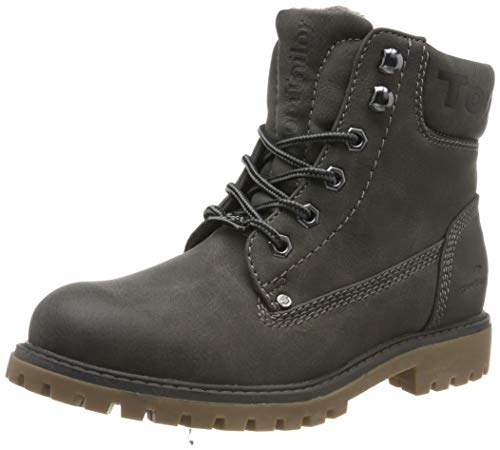 TOM TAILOR Damen 7990114 Stiefeletten, Grau (Coal 00013), 39 EU