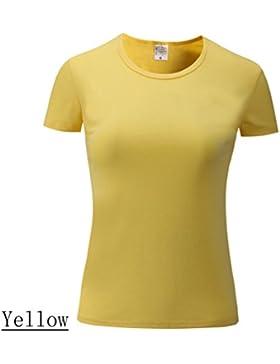 Cayuan Camisetas de Manga Corta Redondo Mujeres Verano Camiseta Tops Algodón T-Shirt Camisas Blusas Tops Casual