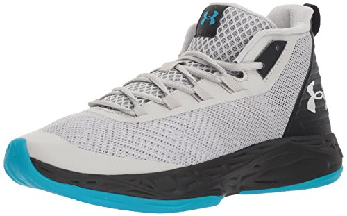 Under Armour UA Jet Mid, Zapatos de Baloncesto para Hombre, Gris (Ghost Gray/Black) 45 EU