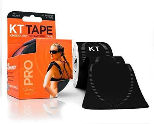 KT TAPE Pro Therapeutische Tape 20Streifen Tönungsfolie 5cm x 5m jet black