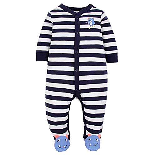 Nettes Mädchen Schlafanzug (Zhongke Baby Strampler Neugeborenen Schlafanzüge Infant Pyjamas Toddlers Overall Nette Weiche Jungen Cartoon Mädchen Langarm Footie (3-24 Monate))