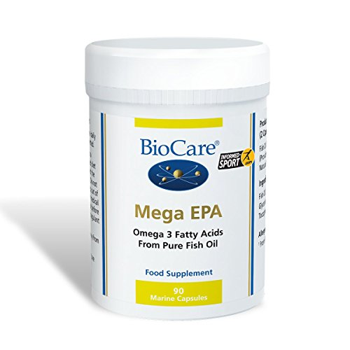 Biocare Mega EPA 1000mg (EPA / DHA Fischöl-Konzentrat) 90 Kapseln -