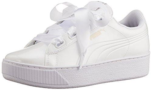 Puma Damen Vikky Platform Ribbon P, Sportliche Freizeitschuhe Sneaker Low-Top Weiß White 36 EU (Sneakers Sportliche)