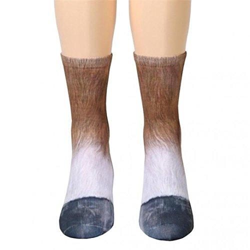 Eine Star-crew Socke (LCLrute Frauen Mann Erwachsene Unisex Tier Pfote Crew Socken Sublimated Print (H))