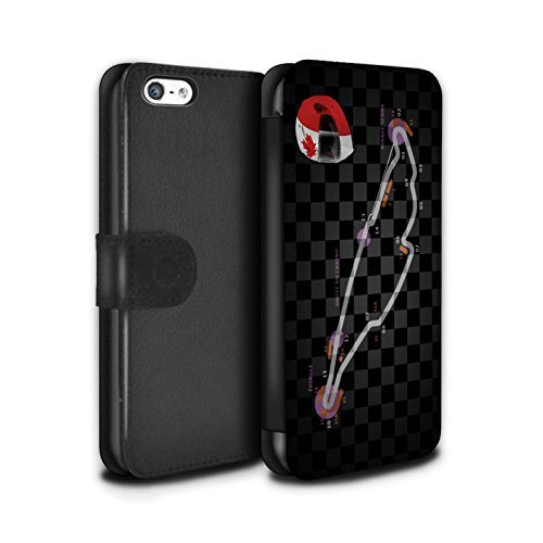 Stuff4 Coque/Etui/Housse Cuir PU Case/Cover pour Apple iPhone 5C / Multipack (19 Pack) Design / 2014 F1 Piste Collection Canada/Montréal
