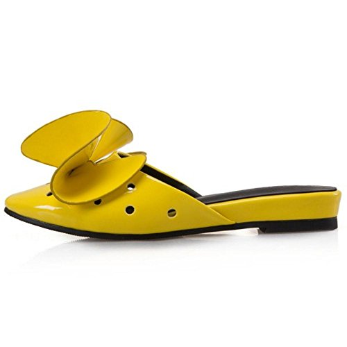 COOLCEPT Damen Niedrige Sommer Slides Yellow