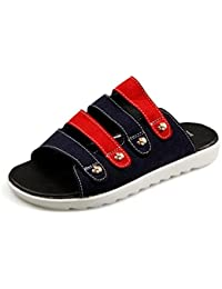 GLTER Sandales talons ouverts Nouveaux été Flip Flops Chaussures de plage Chaussures décontractées pour hommes