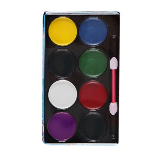 Bobury Gesicht Körperfarbe Ölmalerei Kunst Make up Set Clown Gesicht Make up Tools Halloween (Make Clown Kit Up Um)