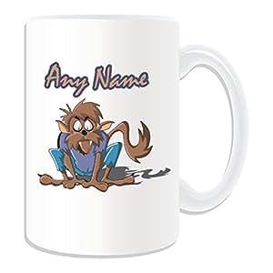 Cadeau personnalisé–Grand mug loup-garou (Scary Design Thème, blanc)–N'importe Quel Nom/Message sur votre mug unique ï ¼ lycanthropie lycanthrope Lycan Werwolf Wolf Man