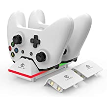GameSir Estación de Carga de Dual Xbox One con 2 Baterías Recargables de 800mAh y Cable USB DE 3,3 Pies para el Controlador Inalámbrico Xbox One/One S/One X/One Elite