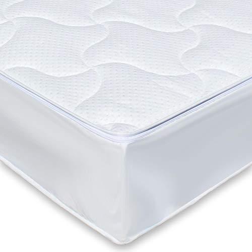 Traumreiter Wasserbett-Auflage Wasserbett-Bezug Allergiker Matratzen-Bezug Ohne Wasserentleerung Jedes Wasserbett (200 x 220 cm Silver)