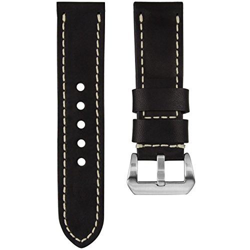 kaizen-r-17-genuine-usa-oiled-leather-watch-strap-ivory-stitch-pre-v-buckle-jet-black-24mm