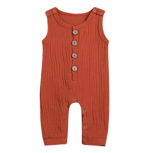 Softshell Overall Neugeborenen Leinen Solid Button Strampler Overall Kleidung Outfits -