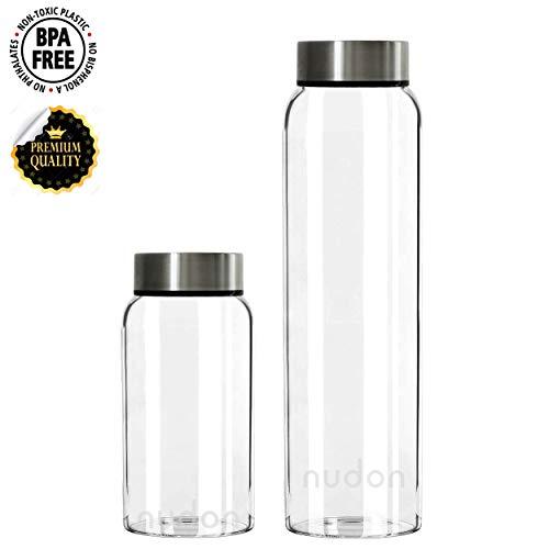 nudon Motivational Trinkflasche, BPA-freies Glas, Auslaufsicher, Weithals, Zeitmarkierung Für mehr Flüssigkeitszufuhr, Ideal für die tägliche Arbeit im Schulsport und im Freien -