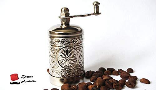 Molinillo turco artesanal para especias, sal y pimienta, de 7,62 cm