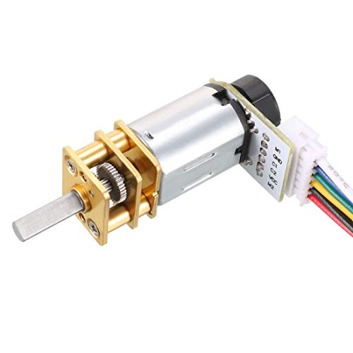 ZCHXD GA12-N20 3V 100RPM DC Micro Motor with Encoder Speed Velocity Measurement for Mini Car Balance Motor Encoder DIY