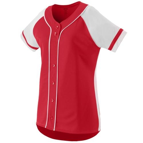 Augusta Sportswear Women'S Winner Softball Jersey S Red/White (Knit Jersey Body)