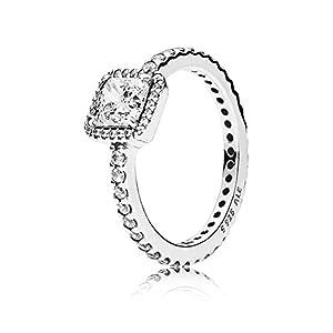 Pandora Damen-Ring Zeitlose Eleganz 925 Silber Zirkonia weiß – 190947CZ