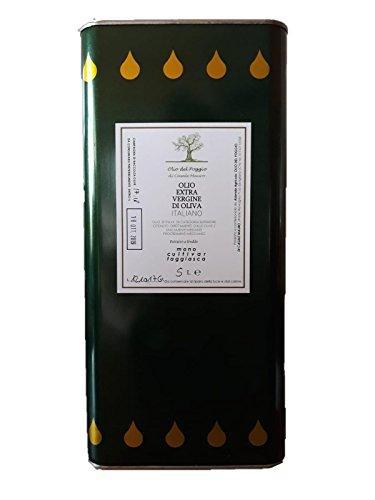 Olio extravergine di oliva taggiasca - latta 5 litri - olio al naturale sano e genuino