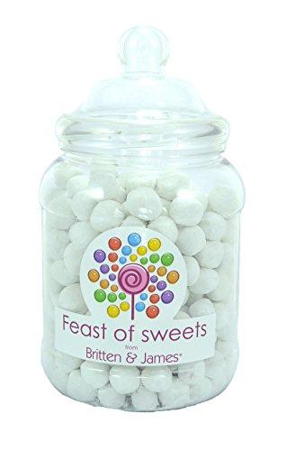 TOFFEE BON BONS 1.5Kg+. Big Feast of Sweets Jar by Britten & James®. Dulces tradicionales británicos en un tarro reutilizable de plástico de 2500 ml. Un regalo perfecto para Navidad, cumpleaños, padre, madre, abuela, abuelo, bodas y fiestas.