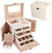 European Princess Portable Jewelry Box - White &