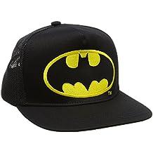 9b1799c7c17e9 DC Comics - Batman Logo Gorra - Visera para niño - Bordado - Negro - Diseño  original con licencia - LOGOSHIRT