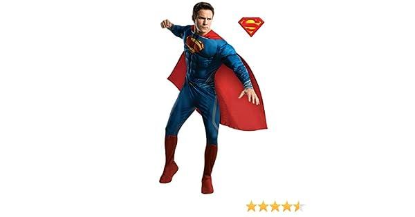 Mens Deluxe JOR-EL Man Of Steel Superman Superhero Fancy Dress Costume Outfit