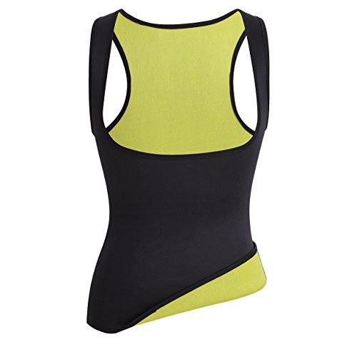 Frauen Waist Taille Cincher Heißer Schweiß Neopren Sport Weste Body Shaper Korsett Muskelshirt für Fettverbrenner Black(3-5 Days Delivery)