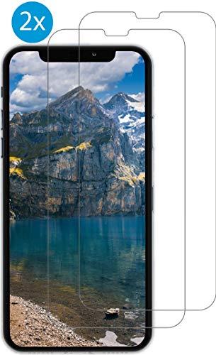 PhoneEquip [2 Stück] Panzerglas Displayschutzfolie für iPhone X/iPhone XS, 1-2 Tage Lieferzeit, 9H Härtegrad, 0.3 mm Dicke, kratzresistent