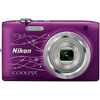 Nikon Coolpix S2800 20.1MP Point and Shoot Camera (Decoration Purple) with 5x Optical Zoom, 8GB Card and Camera Bag