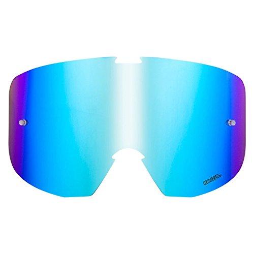 O'Neal Ersatz Scheibe B1 RL Goggle Anti Beschlag Ersatzteil Glas Polycarbonat Kratzfest MX Cross, 6021D-5, Farbe blau