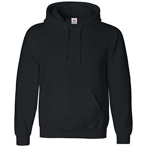 LARGE Black classic plain pullover hoodie unsex and these are ideal for mens and ladies hooded sweatshirt