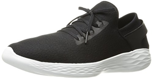 Skechers Damen You-Inspire Slip On Sneaker, Schwarz (Black/white), 39 EU (6 UK) (Skechers Go Walk Nahtlose)