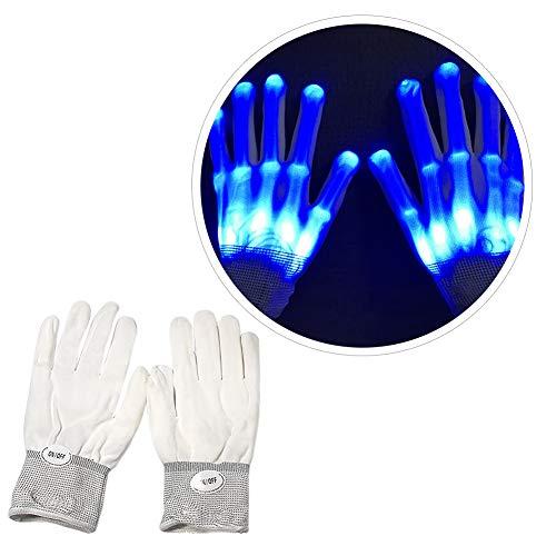URMAGIC LED Leuchtende Handschuhe blinkende Bunte Finger Gloves Coole Spielzeuge Skeleton Tanzen für Weihnachten, Halloween, Karneval, Kostüm Beleuchtung Geschenke Spiele,Rave Lagerfeuer Clubs, (Lagerfeuer Kostüm)