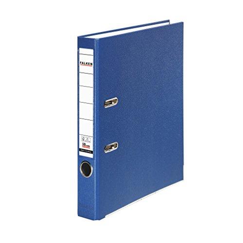 Falken PP-Color Kunststoff-Ordner 5 cm schmal DIN A4 blau Ringordner Aktenordner Briefordner Büroordner Plastikordner Schlitzordner - Schmales Blatt