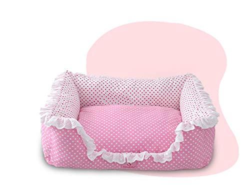 Nette rosa Haustier-Bett-Schlaf-gemütliche Betten, dauerhaftes wasserdichtes Hundebett, atmungsaktive Haustier-Bett-Matratze-orthopädische Hundesofa-Couch-organische Baumwolle mit veränderbarem Bezug -