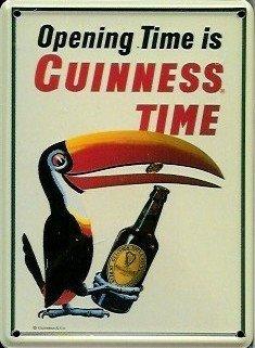 Guinness reklamewelt affiche métallique avec mini toucan bottle - 8