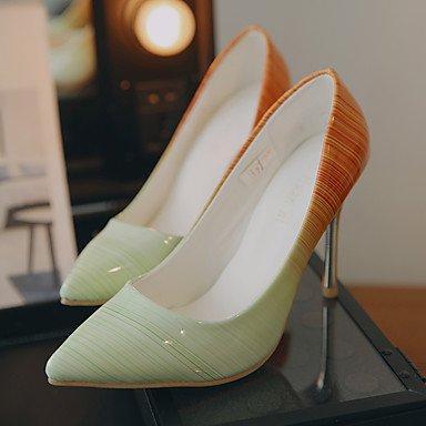 Moda Donna Sandali Sexy donna tacchi Primavera / Estate / Autunno Comfort PU Office & Carriera / Party & sera abito / Stiletto Heel Slip-onBlack / giallo / verde / verde Green